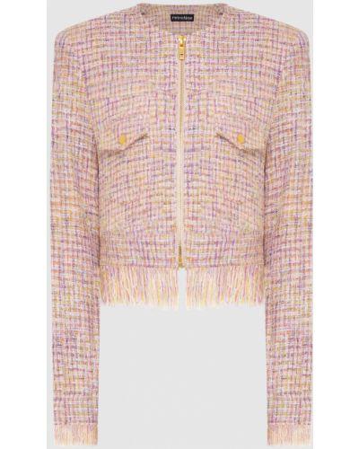 Пиджак твидовый - розовый Retrofete