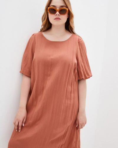 Коричневое весеннее платье Zizzi