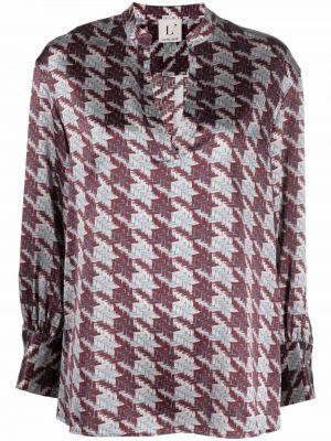 Шелковая блузка - красная Lautre Chose