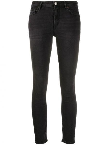 Хлопковые черные джинсы классические стрейч Acne Studios