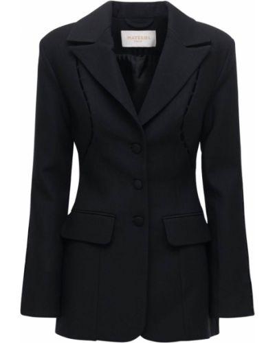 Шерстяной черный пиджак с карманами Matériel