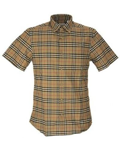 Koszula krótki rękaw bawełniana Burberry