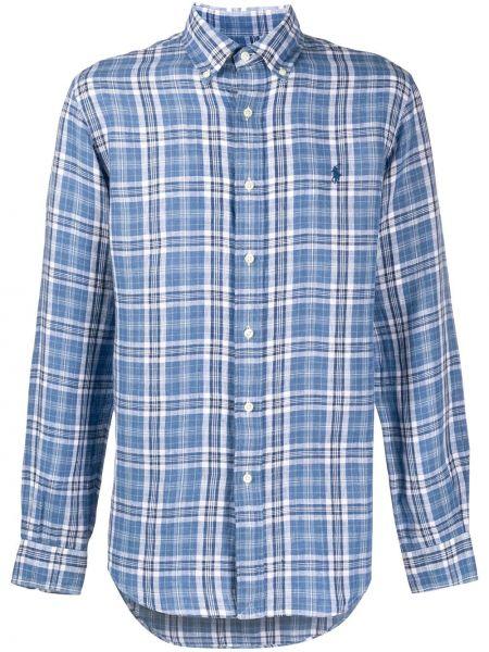 Koszula z długim rękawem w kratę z logo Ralph Lauren
