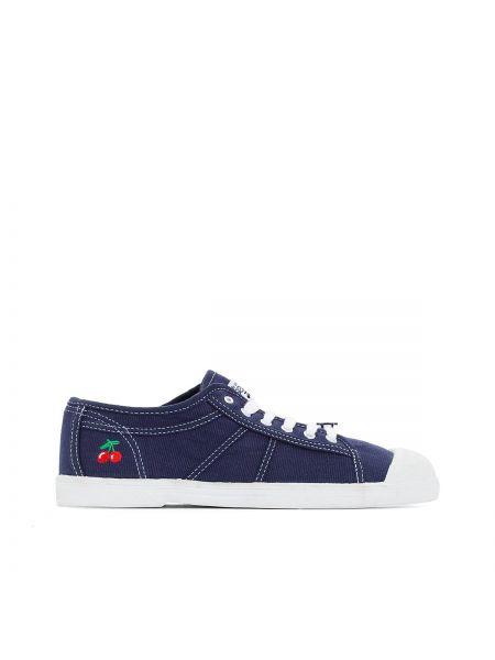 Спортивные синие текстильные кроссовки на каблуке Le Temps Des Cerises