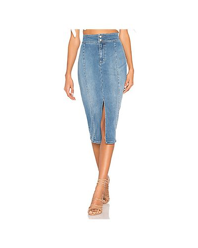 Юбка миди джинсовая с карманами Free People