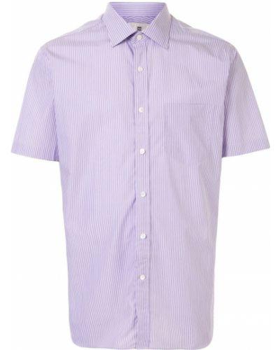 Фиолетовая классическая рубашка с воротником с карманами на пуговицах Kent & Curwen