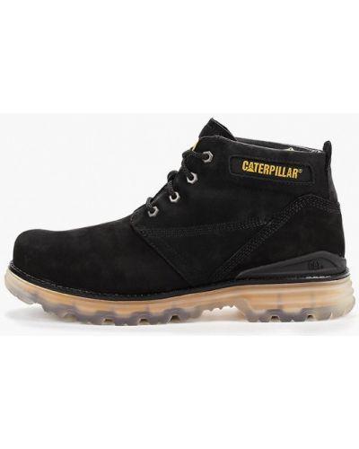 Ботинки осенние кожаные черные Caterpillar