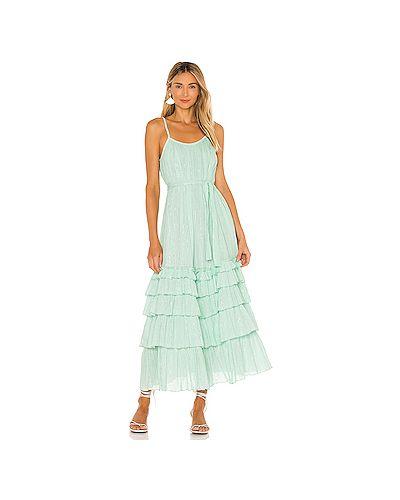 Хлопковое платье макси на бретелях с завязками Sundress