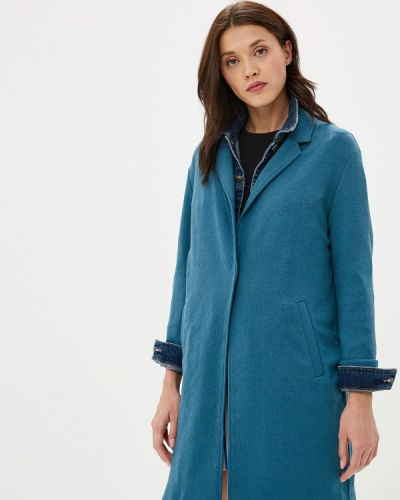 Бирюзовое пальто с капюшоном Marks & Spencer