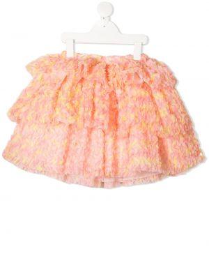 Różowa spódnica z wiskozy Charabia