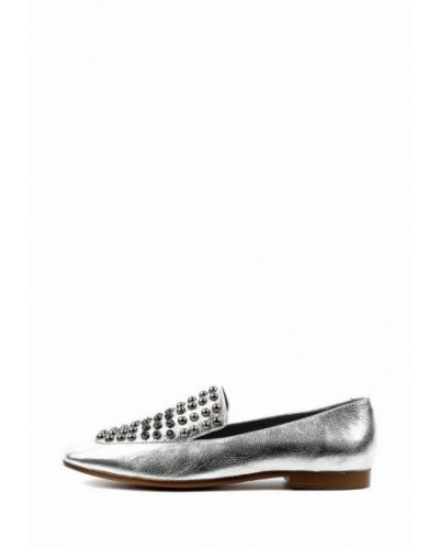 Серебряные кожаные туфли Leberdes