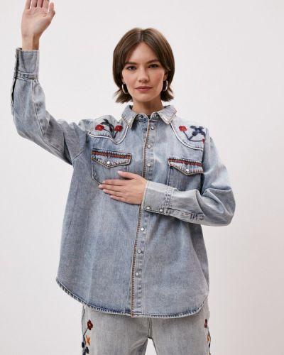 С рукавами джинсовая рубашка One Teaspoon