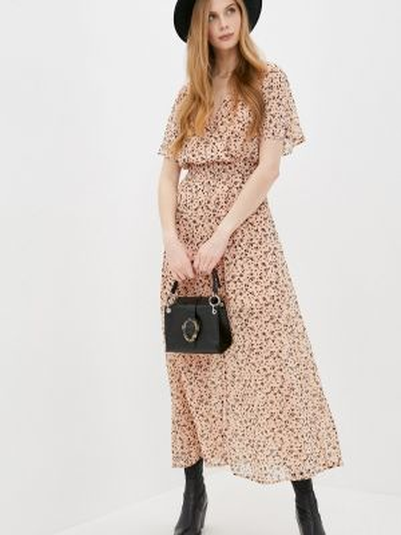 Платье с запахом бежевое Befree