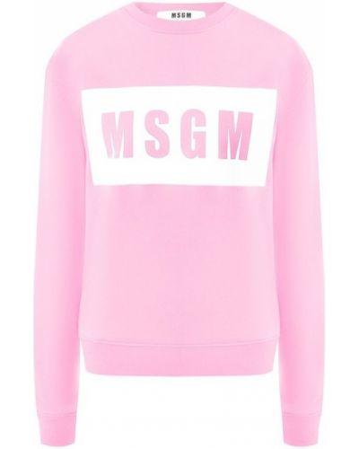 Свитер розовый повседневный Msgm