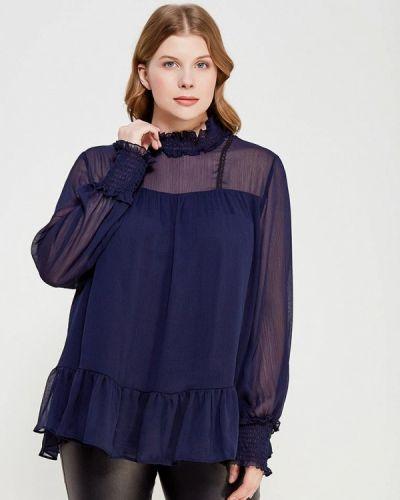 Синяя кружевная блузка Lost Ink Plus