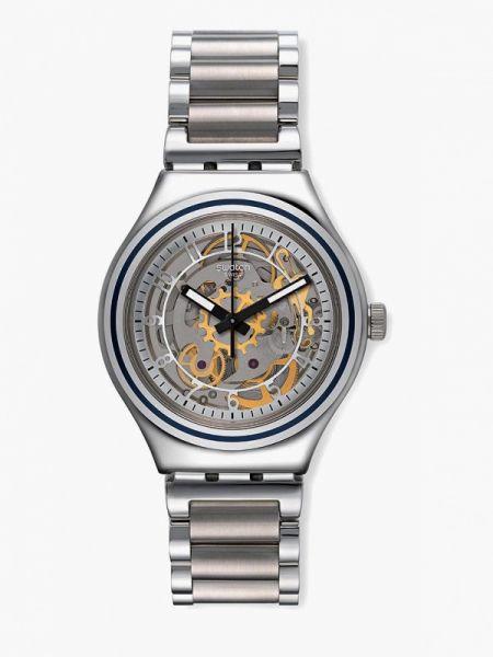 Серебряные часы швейцарские Swatch