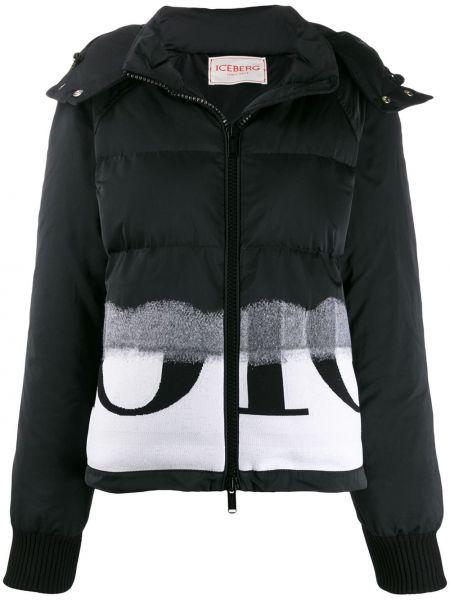 Куртка с капюшоном черная на молнии Iceberg