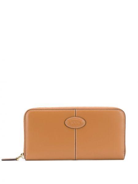 Brązowy portfel skórzany Tod's