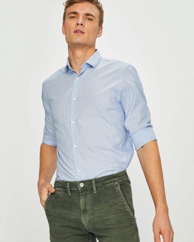 Рубашка с длинным рукавом хлопковая с узором Jack & Jones
