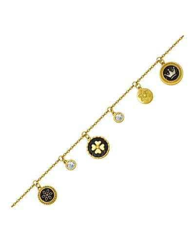 Золотой браслет с подвесками позолоченный Sokolov