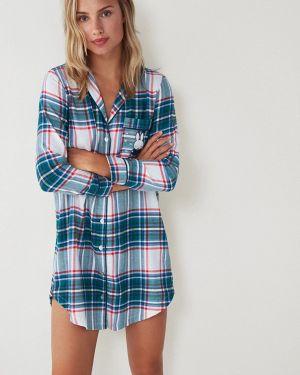 Платье осеннее синее Women'secret