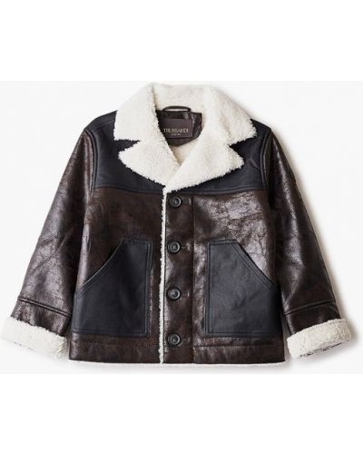 Коричневая куртка Trussardi