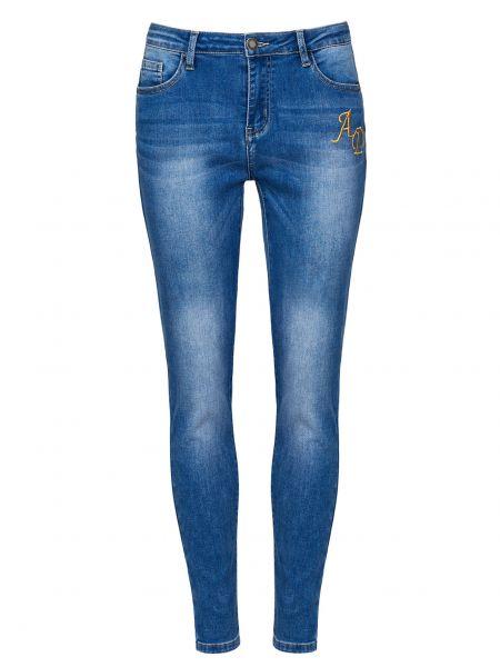 Хлопковые синие джинсы на молнии Alessandro Dell'acqua