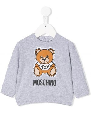 Свитшот с логотипом на шею Moschino Kids