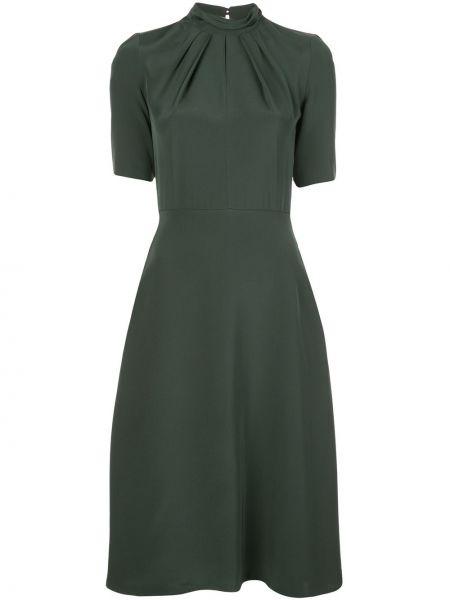 Платье мини на молнии со складками Adam Lippes