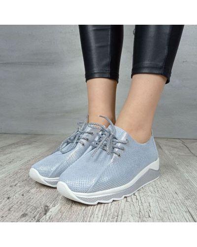 Кожаные кроссовки - синие Kadisailun