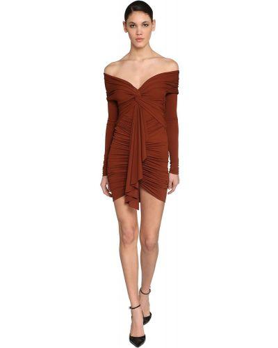 Sukienka mini asymetryczna z długimi rękawami Alexandre Vauthier