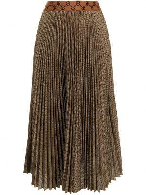 Brązowa spódnica z wiskozy Rokh