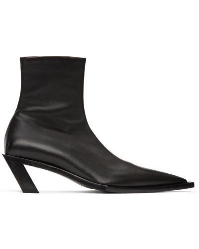 Кожаные черные ботинки на каблуке Balenciaga
