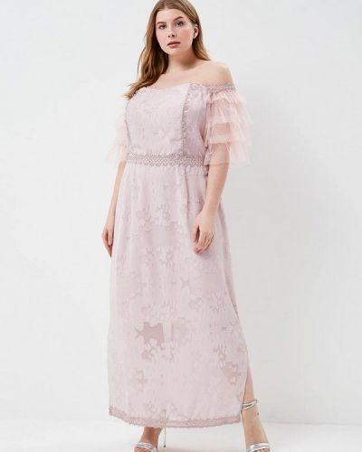Платье весеннее розовое Lost Ink Plus