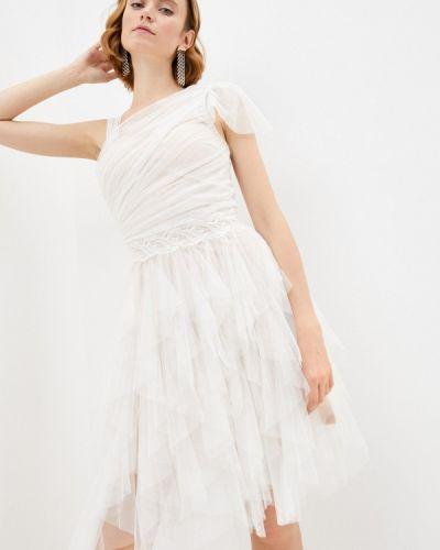 Бежевое вечернее платье Soky & Soka
