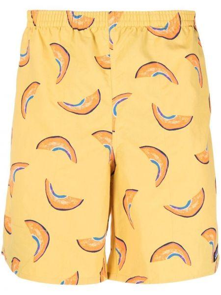 Прямые желтые шорты для плаванья с карманами Patagonia