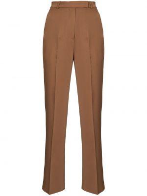 Коричневые брюки с завышенной талией Frankie Shop