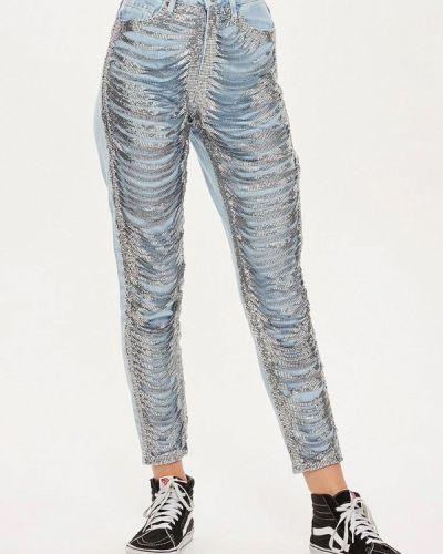 Голубые джинсы Topshop