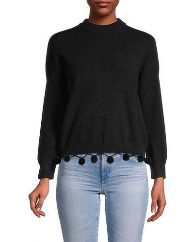 Нейлоновый черный длинный свитер с длинными рукавами English Factory