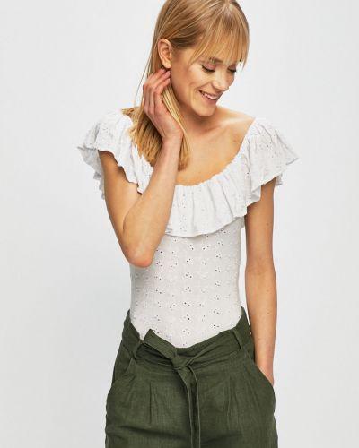 Топ с открытыми плечами - белый Guess Jeans