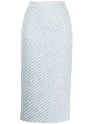 С завышенной талией синяя юбка миди твидовая Alessandra Rich