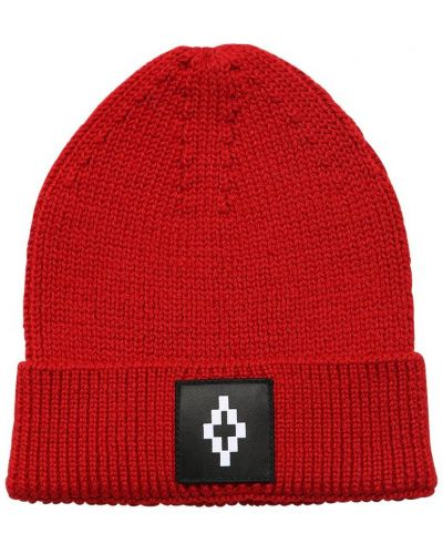 Wełniany kapelusz z łatami Marcelo Burlon County Of Milan