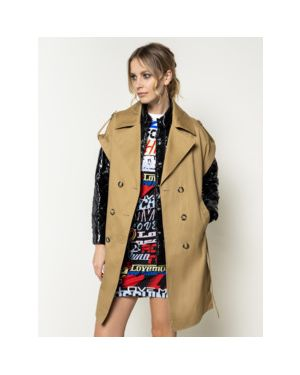 Płaszcz od płaszcza przeciwdeszczowego płaszcz Pinko