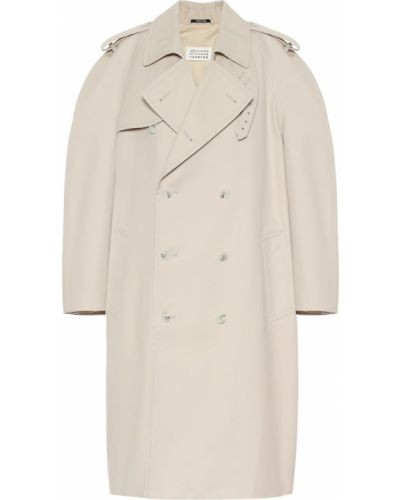Пальто бежевое дутое Maison Margiela