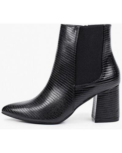 Черные кожаные ботинки Tulipano