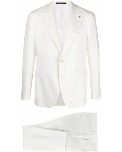 Biały garnitur z wiskozy Tagliatore