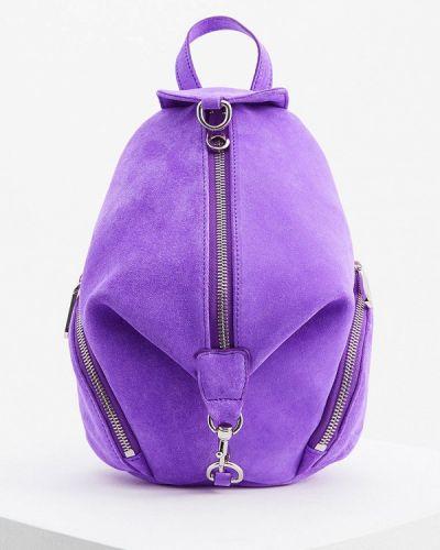 Рюкзак замшевый фиолетовый Rebecca Minkoff