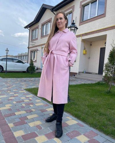 Пальто пудровое Albanto