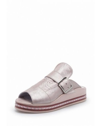 Сабо кожаные розовый Tops