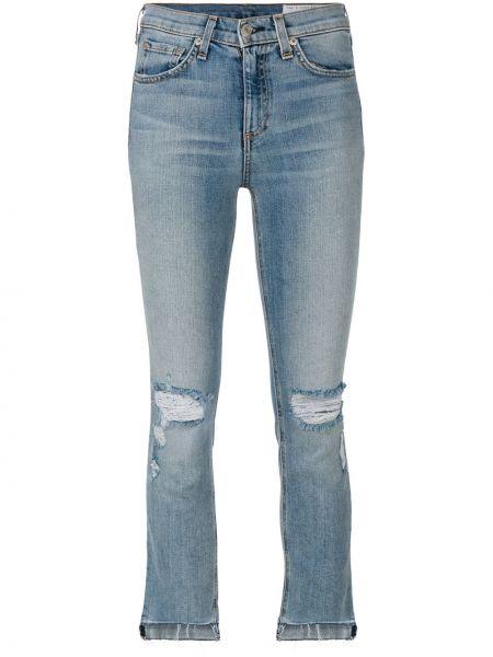 Рваные джинсы - синие Rag & Bone/jean